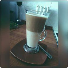 Cafe latté od lasky, take ty si este nemal kamo heh Glass Of Milk, Latte, Food, Meal, Essen, Hoods, Meals, Eten