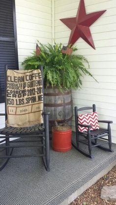 porch...love the little rocker
