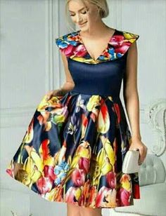 Customized Colorful V-Neck Party Dresses, Party Dresses Short, Yellow Party Dresses, Backless Prom Dress African Dresses For Kids, African Wear Dresses, Latest African Fashion Dresses, African Print Fashion, African Attire, African Fashion Designers, Ankara Short Gown Styles, Short Gowns, African Print Dress Designs