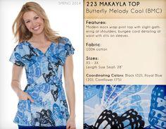223 MAKAYLA TOP   223PR-BMC (Butterfly Melody Cool)