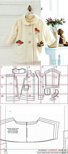 Выкройка пальто-манто для девочки дошкольного возраста. Фото №1