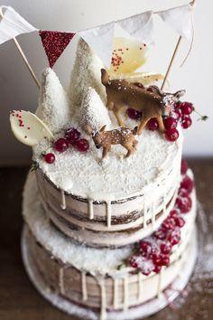 Woodland Christmas Cake | Migalha Doce