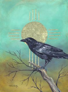 I don't remember a time being so thoroughly guided through a painting as I was with The Sentinel! The Sentinel by Toni Kelly Crow Art, Bird Art, Raven Images, Baby Crows, Raven Bird, Jackdaw, Nature Artists, Gelli Printing, Crows Ravens