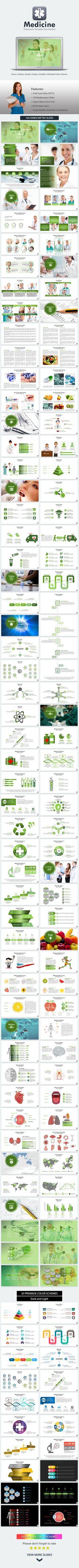 Medicine PowerPoint Presentation Template #design #slides Download: http://graphicriver.net/item/medicine-presentation-template/13593212?ref=ksioks