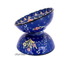 Turkish ceramic bowls from kütahya, sooo colorfull by kultdeko! Keramikschale Türkei bei https://www.etsy.com/de/listing/207656472/schussel-turkei-kutahya-keramik-blau