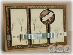 Three panels on the card, and a hole on two of them to give room for the dragonfly - great idea!