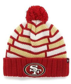 d143c371 Brand New NFL San Franisco 49ers 47 Breakout Cuff Knit Hat With Pom One Size