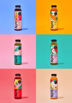 New Logo, Identity, and Packaging for Misfit by Ga. - Branding that The Indie Practice love! Juice Branding, Juice Packaging, Beverage Packaging, Bottle Packaging, Brand Packaging, Yogurt Packaging, Juice Logo, Web Design, Great Logo Design