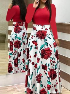 Short Sleeve Floral Print Maxi Dress - 27 ( and more) dresses - Saias Elegant Dresses, Casual Dresses, Fashion Dresses, Short Sleeve Dresses, Long Sleeve, Short Sleeves, Vintage Dresses, Summer Dresses, Summer Outfits