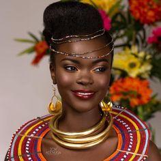 BN Bridal Beauty: An International Splash of Colour by Joy Adenuga African Beauty, African Women, African Fashion, African Tribes, Ankara Fashion, African Diaspora, African Wear, Kenyan Wedding, Tribal Makeup