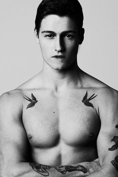 I don't know why, but I love swallows, and I love chest tattoos on boys with muscles, so I'm currently dying over this.