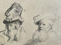 Artiste non identifié. Détail d'un dessin à l'encre sur calque, probablement une étude d'après les maîtres anciens.
