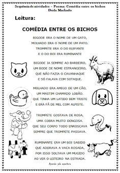 Prof.ª Kátia Teixeira: Sequeência didática Comédia ente bichos