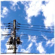 電線電柱部