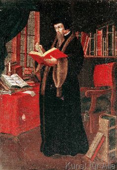 French School - Portrait of John Calvin (1509-64), French theologian and reformer