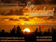 La Marchant Guesthouse is located in the heart of Roodepoort, in the tranquil suburb of Florida Park just off the N1 highway, drive up with William Nichol and cross over Ontdekkers road, second right, then second left again into Mail street. Make your booking today - call 082 600 8596. Email us info@lamarchant.co.za for more information. Looking forward to welcome you here. Everyone leaves here as friends. Our home is your home. Everyone Leaves, In The Heart, Home And Away, Good Morning, Florida, Make It Yourself, Park, Street, Friends
