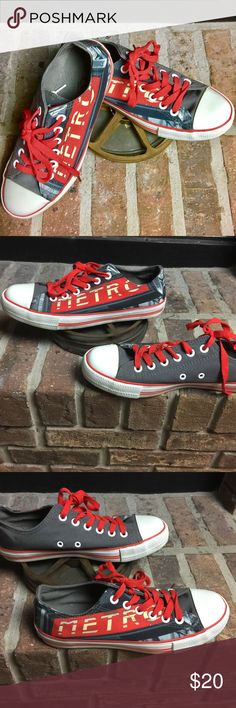 City Art Shoes-Paris! sz9/40 Worn Once Purchased last summer in Italy- They fit and feel like converse. Comes with white & red laces. Run small- I wear a 9 and they fit! Shoes Sneakers