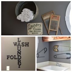 Be cool to do in the laundry room... rather than the dull plain laundry room