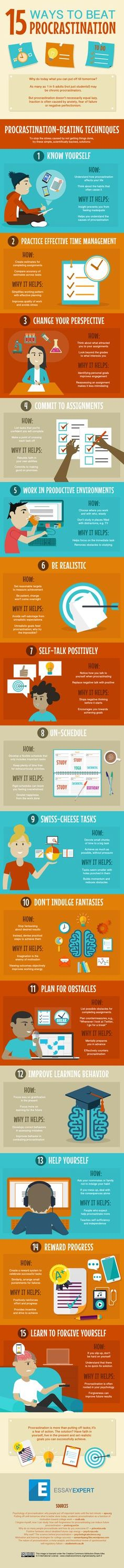 Procrastination : 15 conseils
