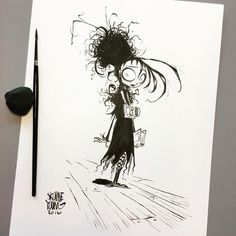Tim Burton Drawings, Lydia Beetlejuice, Tim Burton Characters, Young Art, Skottie Young, Character Sketches, Character Design, Transformers Art, Sketch Inspiration