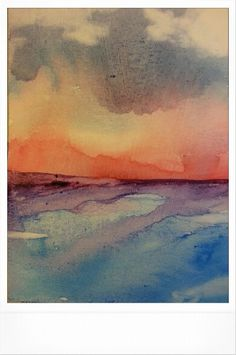 The Sea Watercolor Painted by Jenny Yandell