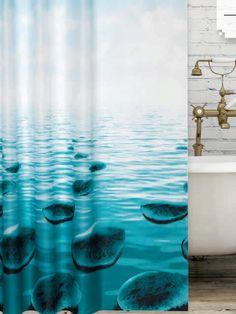 Kavicsmintás zuhanyfüggöny Curtains, Shower, Bathroom, Prints, Rain Shower Heads, Washroom, Blinds, Full Bath, Showers