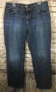 e5fcef6e769 J Jill Size 12 Jeans Denim Basic 5 Pocket Straight Leg Medium Wash