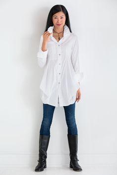 Tokyo Solid Shirt by Comfy USA (Woven Shirt) | Artful Home