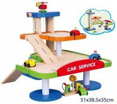 New Wooden Garage Boy Toy Toys Car Truck Lift Parking Wooden Truck, Wooden Car, Wooden Puzzles, Wood Toys, New Toys, Car Parking, Montage, Wood Crafts, Things That Bounce