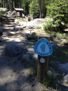 Hiking to Round Lake on the Tahoe Rim Trail.