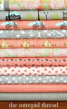 Maureen Cracknell  Bluebird Park fabric collection by Kate & Birdie Paper co.