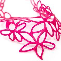 Hibiscus Necklace  (by Beija-Flor Design) at http://www.laranjalimao.com/
