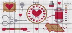 CommonThread.us's free 'notions' Valentine's Day cross stitch chart