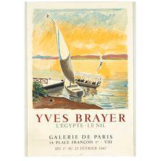 BRAYER. L'Egypte, le nil, Galerie de Paris, 1967