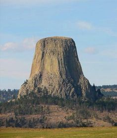 Devils Tower WY...don't care for the name of it, but it is quite the site to see