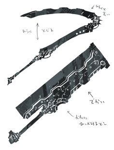 New steampunk concept art fantasy Ideas Ninja Weapons, Anime Weapons, Sci Fi Weapons, Weapon Concept Art, Weapons Guns, Zombie Weapons, Katana, Espada Anime, Armas Ninja