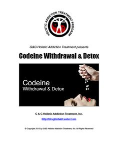 This Special Report discusses Codeine Withdrawal and Detox.