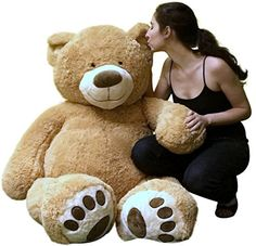 Big Plush Giant Teddy Bear 5 Feet Tall Tan Color Soft Smiling Big Teddybear - Premium Quality - Ships in BIG Box That Weighs 16 Pounds - NOT Vacuum Packed in Tiny Box - Legs Are Proportionate to Body This big plush friendly giant teddy bear isn't just extremely large and soft, he's REALLY Large and VERY Soft. He measures 60 inches Read more http://shopkids.ca/toys-videos-games/big-plush-giant-teddy-bear-5-feet-tall-tan-color-soft-smiling-big-teddybear-premium-quality-ships