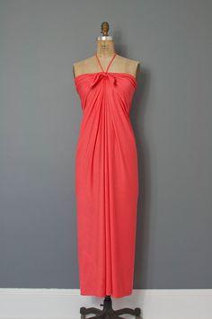 vintage 1970s halston dress