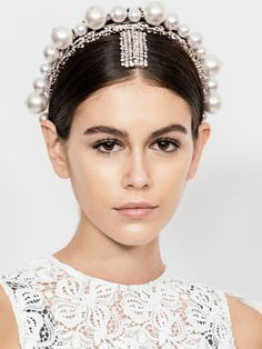 From real-life Rapunzel waves to fluttery feather lashes, the seven most talked-about beauty looks of Paris couture week. From real-life Rapunzel waves to fluttery feather lashes, the seven most talked-about beauty looks of Paris couture week. Head Accessories, Wedding Hair Accessories, Bridal Headpieces, Bridal Hair, Short Wedding Hair, Pearl Hair, Hair Jewelry, Wedding Jewelry, Jewellery