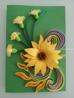 Quilling Card - Summer Colors