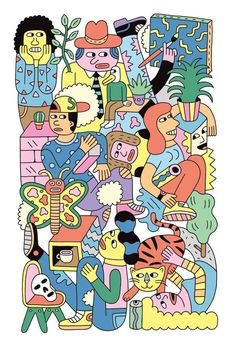 No Culture Icons | Vibrant illustration from Andy Rementer