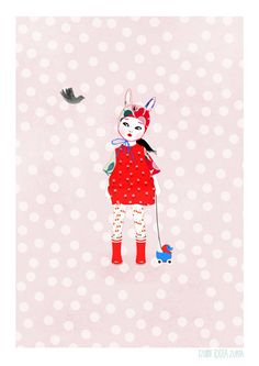 Artprint doll Alma serie Dolls vintage by IzumiIdoiaZubia on Etsy