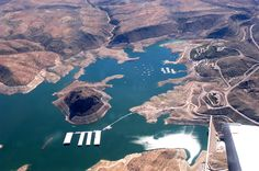 View from above Elephant Butte Lake!
