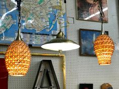 Pair of Rattan Vintage Swag Lights   New Wiring   $280  Mid Century Dallas Booth #766  Lula B's in the OC! 1982 Ft. Worth Ave. Dallas, TX 75208