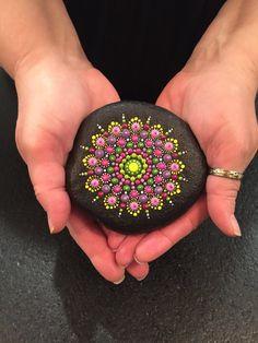 Hand Painted Mandala River Stone