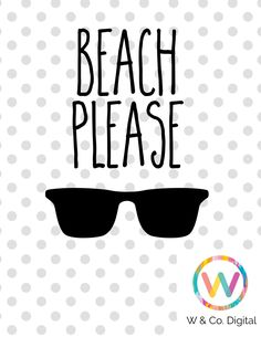 Beach Please SVG Cuttable File Beach Cutting File Cricut Cutting File from WhitneyandCoDigital on Etsy Studio