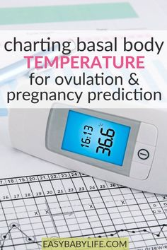 Charting Basal Body Temperature For Ovulation & Pregnancy Prediction - Learn BBT charting and receive a printable BBT chart. Charting basal body temperature can be used - Pregnancy Chart, Pregnancy Signs, Early Pregnancy, Getting Pregnant Tips, Pregnant Diet, Basal Body Temperature Chart, Ovulation Signs
