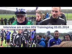 Interview beim ersten HSV Training nach der Winterpause am 03.01.2014