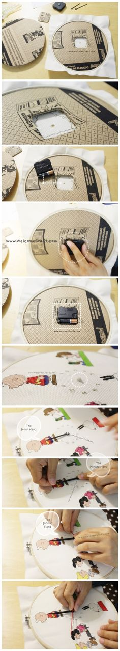How to make Clock DIY step by step tutorial instruction